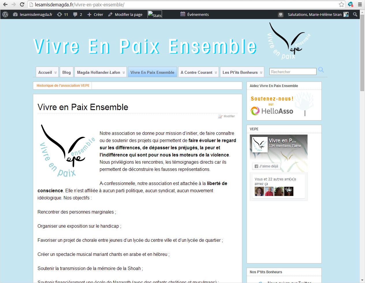Association Vivre En Paix Ensemble